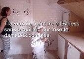 Coup de propre blanc 1h 100€ HT devis Peintures pistolet Airless rafraîchissement plafonds murs rafraîchis peint repeints rafraichis pistolage habitat