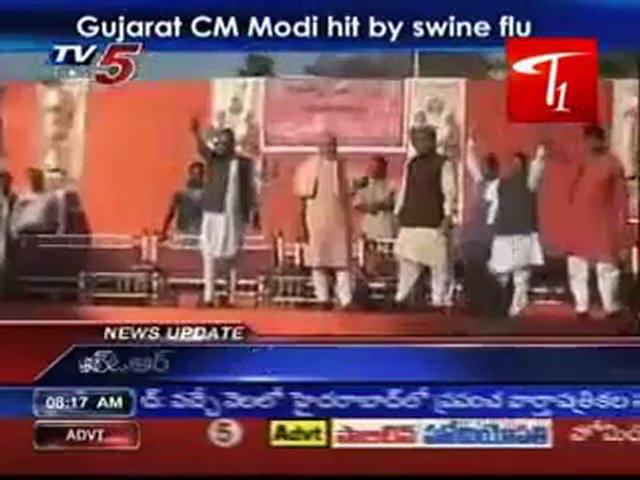 Gujarat CM Modi hit by swine flu