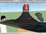 Création 3D de la maquette de Volcan sur SketchUp