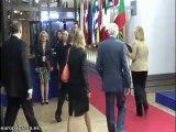 Los líderes europeos en Bruselas