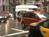 Caen intensas lluvias en Barcelona
