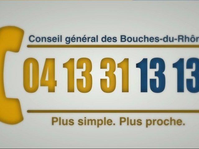 Un seul numéro pour joindre le Conseil général des Bouches-du-Rhône
