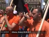 Greek workers in new protest against cuts - no comment