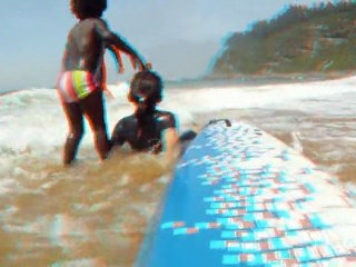 Anagliph 3d Video. A day in the beach.