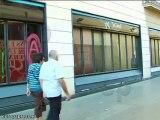 Indicentes entre piquetes y comerciantes en Barcelona