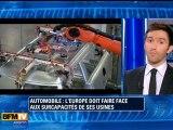 Automobile : l'Europe a des capacités de production trop grandes par rapport à ses besoins