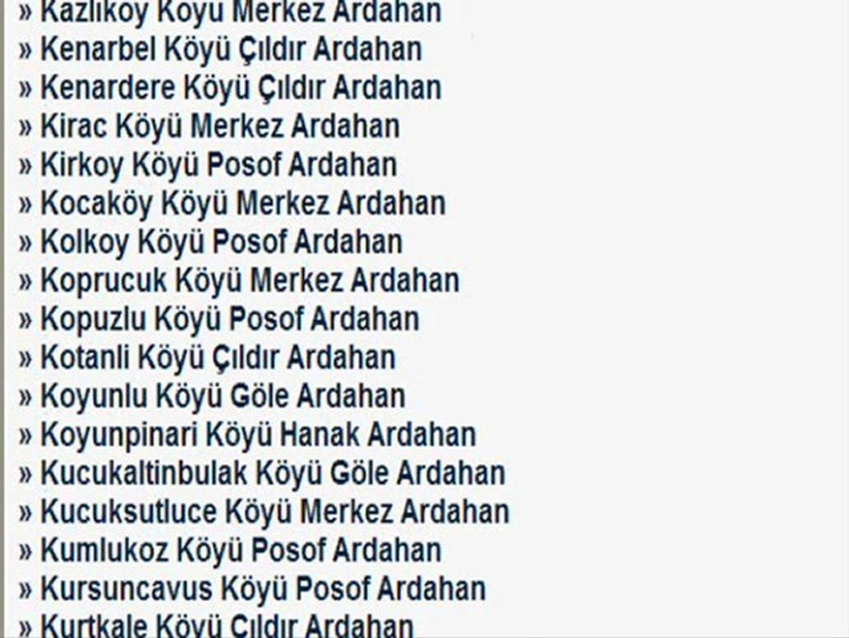 ARDAHAN KÖYLERİ KÖY LİSTESİ + ardahan türküsü @ MEHMET ALİ ARSLAN Videos