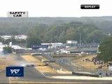 Peugeot 24H du Mans : Crash Corvette contre Porsche