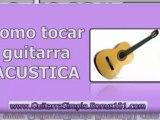aprender a tocar guitarra acustica -  clases de guitarra para principiantes