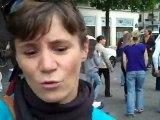 Manifestation des parents d'enfants usagers des crèches parisiennes