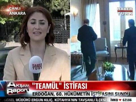 Başbakan Erdoğan istifasını sundu