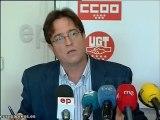 CCOO y UGT denunciarán el recorte de liberados