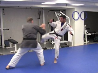 Leg Kick Takedown Self Defense Technique