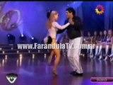 FarandulaTv.com.ar Baile de el roña castro en el duelo del Cha cha cha. Bailando 2011