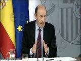 Rubalcaba responde tras el Consejo de Ministros