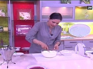 Ghoriba, Verrine au Fromage Blanc Et Aux Framboises