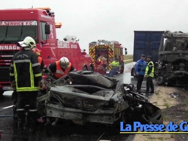 Mortelle collision frontale à Frasne-le-Château