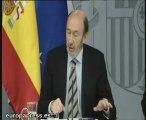 Rubalcaba informa sobre Consejo de Ministros