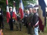 Cérémonie d'inauguration des Panneaux du circuit des tirailleurs commune de Cressonsacq Panneau Bois d'Eraine vidéo inauguration N°1