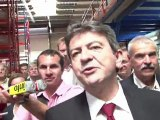Jean-Luc Mélenchon en visite à l'usine Fralib de Gémenos