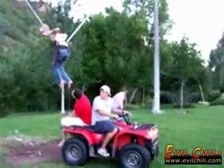 Horizontal bungee jumping