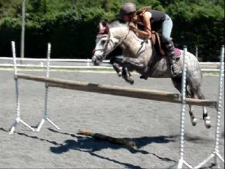 Cours de saut 115cm (21 juin 2011) Maz& moi