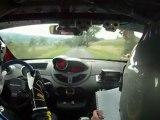 Twingo R1 rallye du Limousin 2011 ( 66 inside )