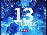 TF1 4 Mars 1999 Générique 13H, 3 Pubs, 4B.A.,Météo, Génériques de divers miniprogrammes