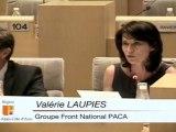 """Région PACA 24/06/2011 - Valérie LAUPIES (FN) -  """"La """"stagiérisation"""" masque la défaillance de l'école"""""""