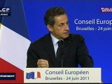 EVENEMENT,Conférence de presse de Nicolas Sarkozy au sommet européen