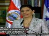 Porfirio Lobo y Laura Chinchilla se reúnen en Costa Rica