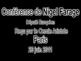 Conférence de Nigel Farage à Paris  --  Partie 1