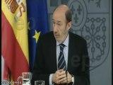 Rubalcaba evita hablar de Zapatero