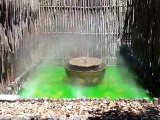 Fontaine du jardin médiéval de Saint-Antoine-l'Abbaye