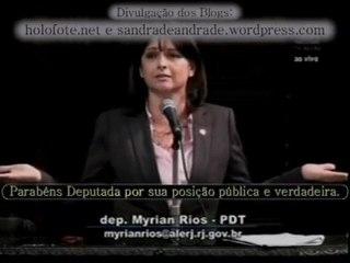 Deputada católica Myrian Rios (RJ) discursa contra a PEC 23_