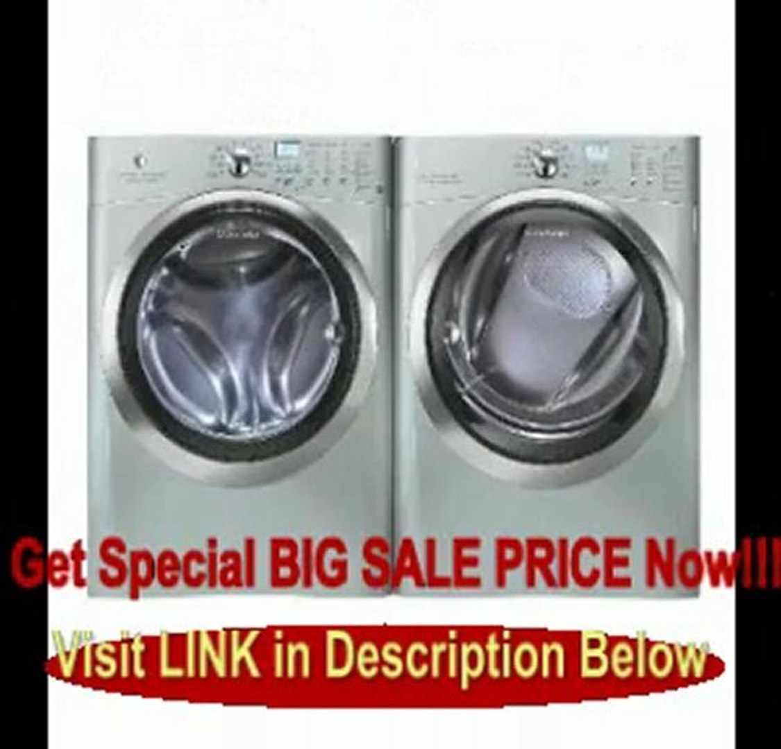 Elecs>Electrolux Silver IQ Touch Front Load Washer and Steam ELECTRIC Dryer Laundry Set EIFLS60LS