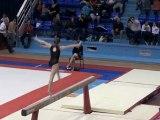 Finale du championnat de France par équipe de gymnastique à Valenciennes.