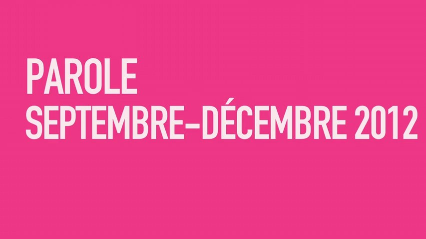 Parole au Centre  | septembre/décembre 2012