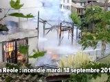 La Réole: incendie mardi 18 septembre 2012