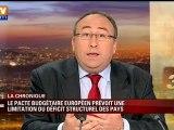 Le pacte budgétaire européen prévoit une limitation du déficit structurel des pays