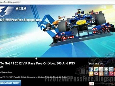 F1 2012 VIP Pass Code Unlock Tutorial