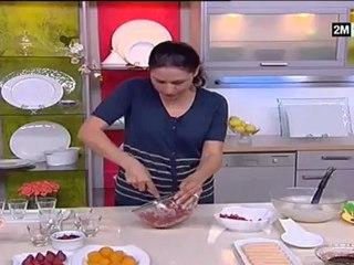 recette choumicha video dessert au fraise chocolat et abricot