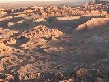 CHILI- San Pedro de Atacama:  Vallée de la Luna et couché de soleil sur le désert