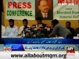 MQM Supports the Protest outside Karachi Press Club Organized by Muttahida Bain-ul-Muslemeen Forum.