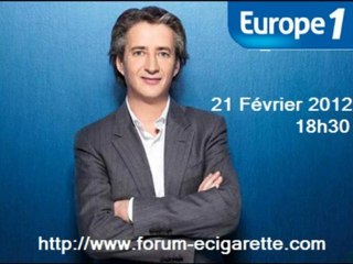 La cigarette électronique sur Europe 1