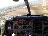 Atterrissage Marseille-Provence (LFML) piste 31R 15kts en DR400 Ecoflyer