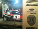 Le frangin sur le podium du rallye de la Montagne noire en clio RS