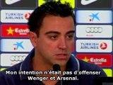 Xavi répond à Wenger et défend Messi