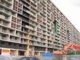 Démolition de l'immeuble Balzac à La Courneuve