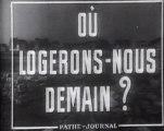 Film d'archive actualités de 1952  Reconstruction de la France sept ans après la fin de la seconde guerre mondiale état des lieux de la crise du logement